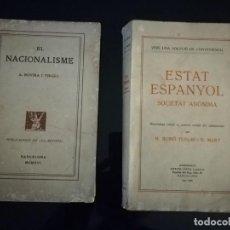 Libros antiguos: LOTE DE 2 LIBROS SOBRE NACIONALISMO CATALÁN. 1916-1930. Lote 121214399