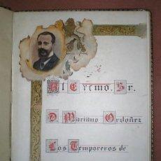 Libros antiguos: LIBRO DE FIRMAS: AL EXCMO. SR. D. MARIANO ORDOÑEZ SUBSECRETARIO DE HACIENDA. 1914. Lote 121810603