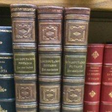 Libros antiguos: AÑO 1869 - LOS DIPUTADOS PINTADOS POR SUS HECHOS - BIOGRAFÍAS - ENCUADERNACIÓN ARTÍSTICA. Lote 124553631