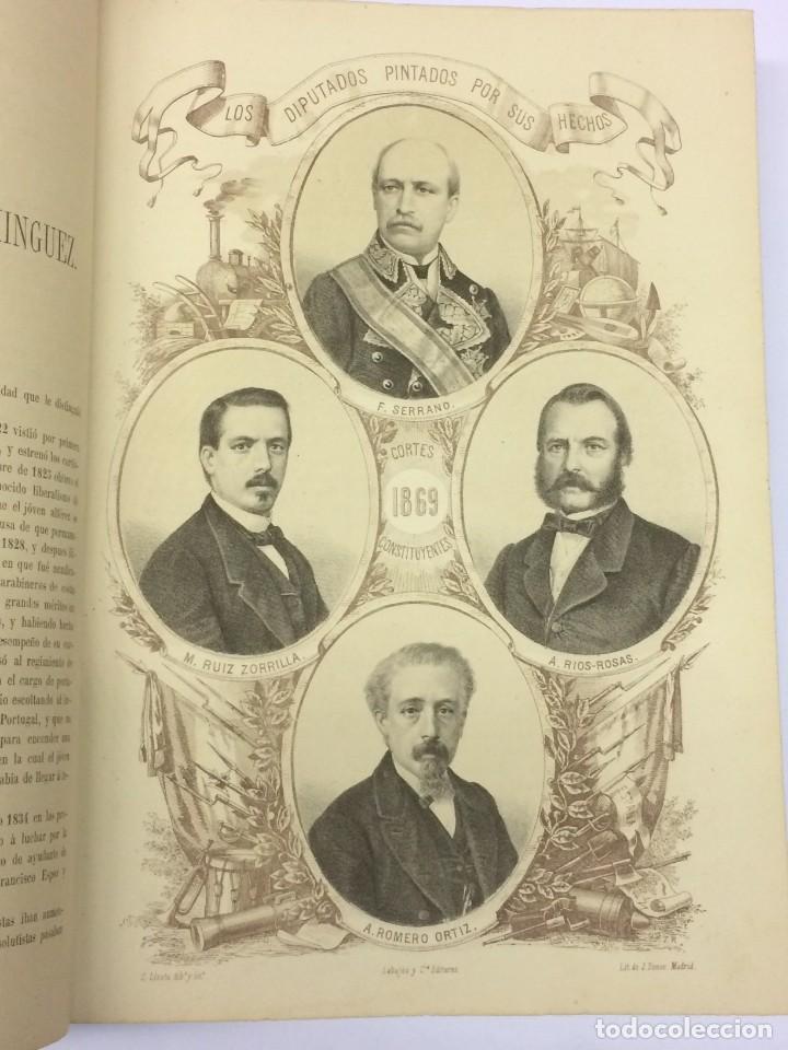 Libros antiguos: AÑO 1869 - LOS DIPUTADOS PINTADOS POR SUS HECHOS - BIOGRAFÍAS - ENCUADERNACIÓN ARTÍsTICA - Foto 4 - 124553631