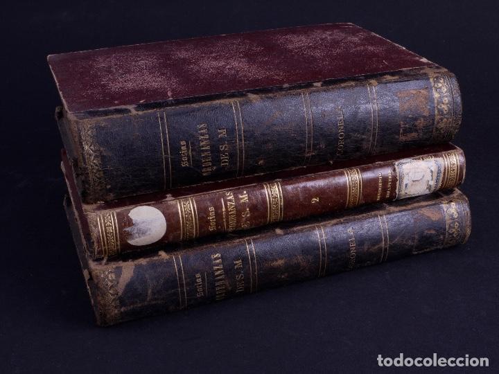 ORDENANZAS DE S.M. 1882, TRES TOMOS (Libros Antiguos, Raros y Curiosos - Pensamiento - Política)