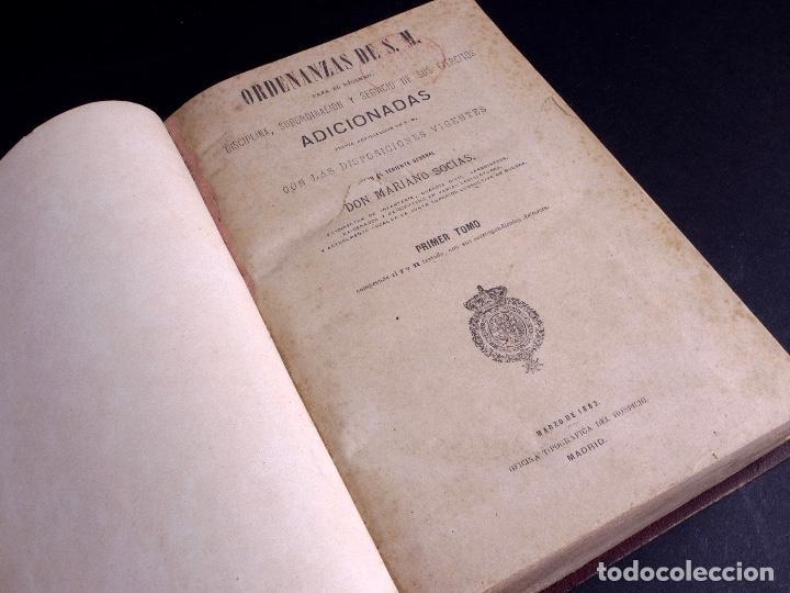 Libros antiguos: ORDENANZAS DE S.M. 1882, TRES TOMOS - Foto 2 - 125092791