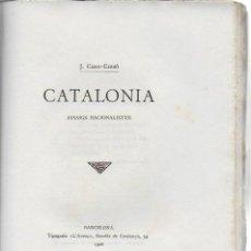 Libros antiguos: CATALONIA. ASSAIGS NACIONALISTES / J. CASES-CARBÓ. BCN : L' AVENÇ, 1908. 24X16 CM. 164 P.. Lote 125166459
