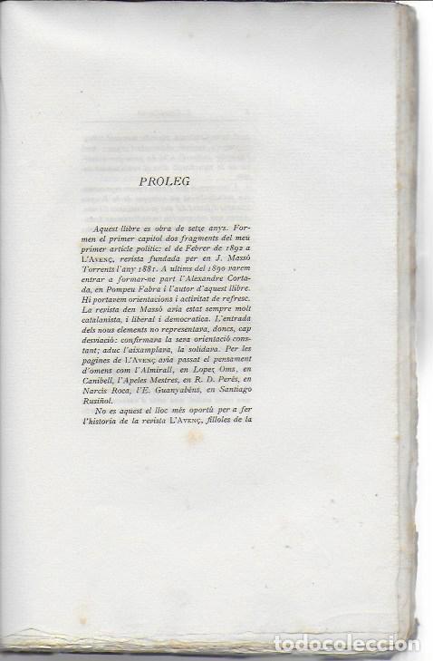 Libros antiguos: Catalonia. Assaigs nacionalistes / J. Cases-Carbó. BCN : L Avenç, 1908. 24x16 cm. 164 p. - Foto 4 - 125166459