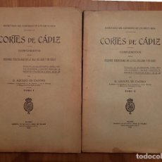 Libros antiguos: CÁDIZ, CORTES DE CÁDIZ, COMPLEMENTOS, CONGRESO DE LOS DIPUTADOS 1913. Lote 125344707