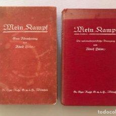 Libros antiguos: PRIMERAS EDICIONES MEIN KAMPF 1925-1927, ADOLF HITLER, TERCER REICH, FUHRER, NSDAP, NAZI, MI LUCHA. Lote 126192763