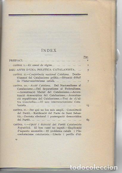 Libros antiguos: Una política catalanista / Jaume Bofill; pref. F. Cambó. BCN : Catalonia, 1933. 20x14cm. 210 p. - Foto 3 - 127757059
