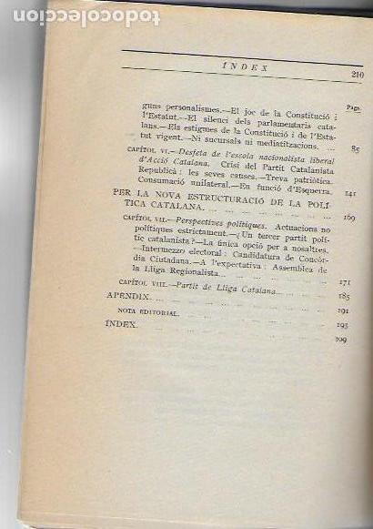 Libros antiguos: Una política catalanista / Jaume Bofill; pref. F. Cambó. BCN : Catalonia, 1933. 20x14cm. 210 p. - Foto 4 - 127757059