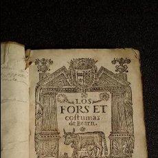 Libros antiguos: FUEROS DE BEARN DE 1625. Lote 128093123