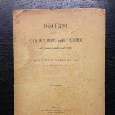 Libros antiguos: DISCURSO PRONUNCIADO POR EL SR. D. ANTONIO MAURA Y MONNTANER EN EL CONGRESO DE DIPUTADOS EN 1887. Lote 129650975
