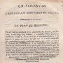 Libros antiguos: UN ALICANTINO A LOS SEÑORES DIPUTADOS A CORTES. DOS FOLLETOS. MADRID, 1820. Lote 129265079
