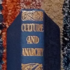 Libros antiguos: CULTURE AND ANARCHY. AN ESSAY IN POLITICAL AND SOCIAL CRITICISM. MATTHEW ARNOLD. PREFACE (1869). Lote 131923510