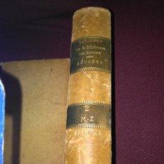 Libros antiguos: CATÁLOGO DE LA BIBLIOTECA DEL SENADO. TOMO II. 1889.. Lote 133103966