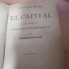 Libros antiguos: EL CAPITAL POR KARL MARX 1887 PRIMERA EDICIÓN. Lote 135696151