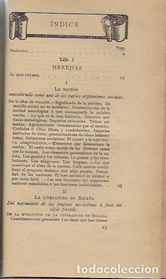 Libros antiguos: Cosas de España / Pompeyo Gener. BCN, 1903. 20x13 cm. 360 p. Piel con nervios. - Foto 2 - 135951870