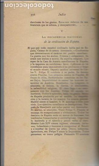 Libros antiguos: Cosas de España / Pompeyo Gener. BCN, 1903. 20x13 cm. 360 p. Piel con nervios. - Foto 5 - 135951870