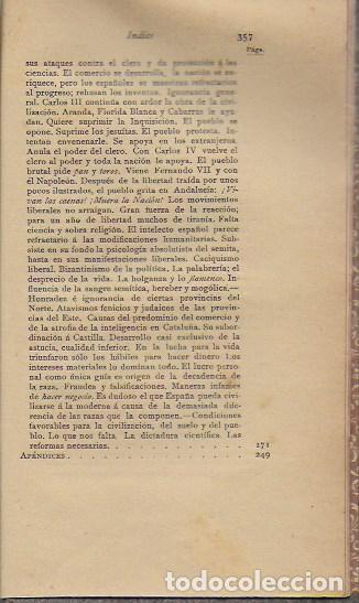 Libros antiguos: Cosas de España / Pompeyo Gener. BCN, 1903. 20x13 cm. 360 p. Piel con nervios. - Foto 6 - 135951870