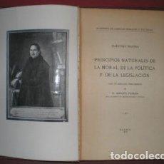 Libros antiguos: MARTINEZ MARINA: PRINCIPIOS NATURALES DE LA MORAL, DE LA POLITICA Y DE LA LEGISLACION. 1933. Lote 138889950