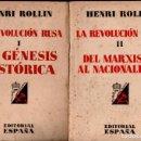 Libros antiguos: ROLLIN : LA REVOLUCIÓN RUSA - DOS TOMOS (EDITORIAL ESPAÑA, 1931). Lote 139896430