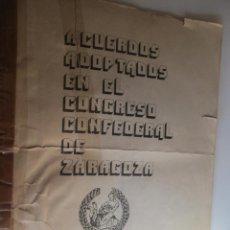 Libros antiguos: CNT ACUERDOS ADOPTADOS EN EL CONGRESO CONFEDERAL DE ZARAGOZA. Lote 140317978
