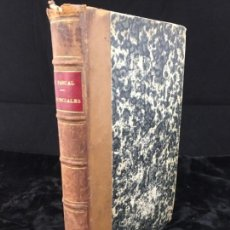 Libros antiguos: LES PROVINCIALES BLAISE PASCAL LETTRES ÈCRITES PAR LOUIS DE MONTALTE MEDIA PIEL 1862 FRANCÉS. Lote 140971838