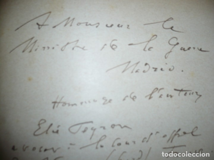Libros antiguos: BAZAINE FUT-IL UN TRAITRE ELIE PEYRON 1904 PARIS DEDICADO POR AUTOR AL MINISTRO DE LA GUERRA - Foto 8 - 141581026