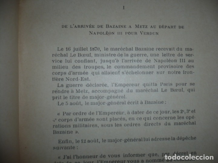 Libros antiguos: BAZAINE FUT-IL UN TRAITRE ELIE PEYRON 1904 PARIS DEDICADO POR AUTOR AL MINISTRO DE LA GUERRA - Foto 11 - 141581026