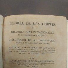 Libros antiguos: TEORÍA DE LAS CORTES 1813. Lote 143628181