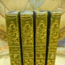 Libros antiguos: EL DERECHO DE GENTES Ó PRINCIPIOS DE LA LEY NATURAL, DE MR. VATTEL. 4 TOMOS. COMPLETO. 1.820.. Lote 143644462