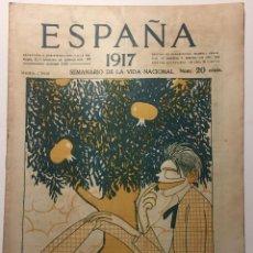 Libros antiguos: ESPAÑA. SEMANARIO DE VIDA NACIONAL. AÑO III.5 DE JULIO 1917. Lote 143791170