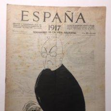 Libros antiguos: ESPAÑA. SEMANARIO DE VIDA NACIONAL. AÑO III. N. 106. 1 DE FEBRERO 1917. Lote 143792410