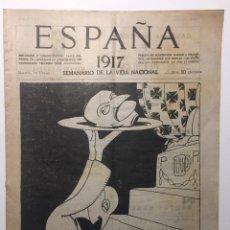 Libros antiguos: ESPAÑA. SEMANARIO DE VIDA NACIONAL. AÑO III. N. 105. 25 DE ENERO 1917. Lote 143792586