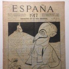 Libros antiguos: ESPAÑA. SEMANARIO DE VIDA NACIONAL. AÑO III. N. 102. 4 DE ENERO 1917. Lote 143793826