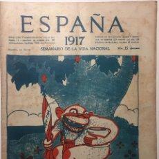 Libros antiguos: ESPAÑA. SEMANARIO DE VIDA NACIONAL. AÑO III. N. 123. 31 DE MAYO DE 1917. Lote 143795170