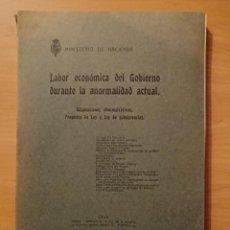 Libros antiguos: CADIZ, DEPOSITO FRANCO, SINDICATOS INDUSTRIALES, MONTES, ULTRAMAR MINISTERIO DE HACIENDA 1915. Lote 144060838