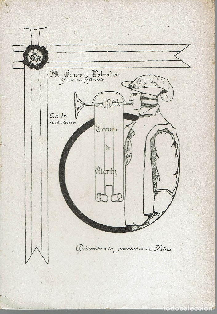 TOQUES DE CLARÍN, DE M. GIMÉNEZ LABRADOR. AÑO 1929. (1.2) (Libros Antiguos, Raros y Curiosos - Pensamiento - Política)