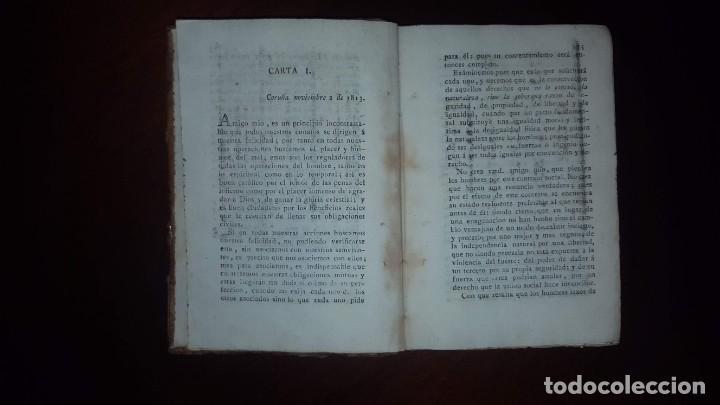 Libros antiguos: Cartas sobre la obra de Rousseau titulada Contrato Social - 1814 - Foto 6 - 146956406