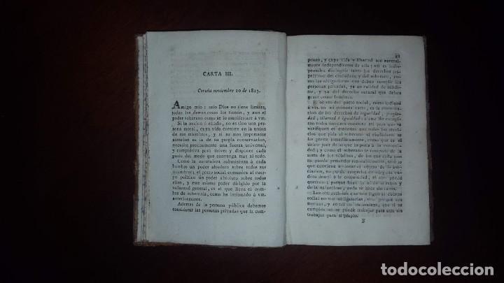 Libros antiguos: Cartas sobre la obra de Rousseau titulada Contrato Social - 1814 - Foto 8 - 146956406