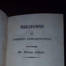 Libros antiguos: 1 TOMO CON DOS LIBROS. PREOCUPACIONES DEL GOBIERNO REPRESENTATIVO Y DE LA SOBERANÍA DEL PUEBLO -1841. Lote 147784150