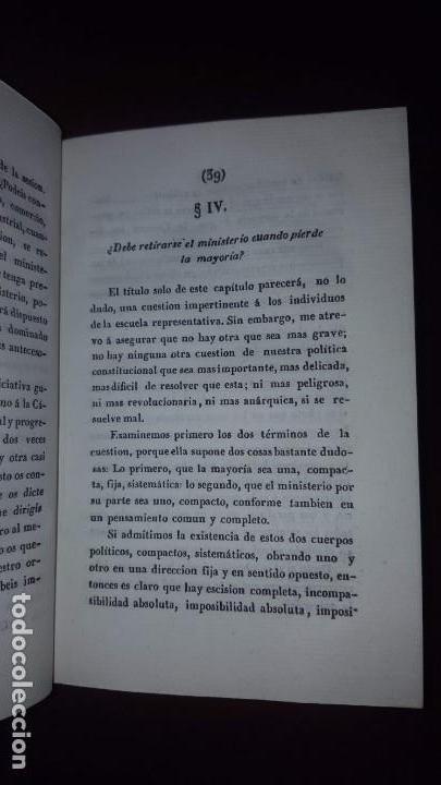 Libros antiguos: 1 tomo con dos libros. Preocupaciones del Gobierno Representativo y De la Soberanía del Pueblo -1841 - Foto 7 - 147784150