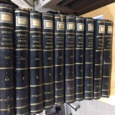 Libros antiguos: DIARIO DE SESIONES DE LAS CORTES: SENADO. LEGISLATURA DE 1891. 11 VOLS.. Lote 147880986