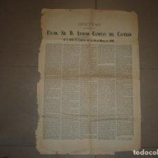 Libros antiguos: DISCURSO PRONUNCIADO POR EXCMO SR.D. ANTONIO CANOVAS DEL CASTILLO 1895 MADRID . Lote 149263026