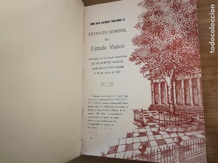 Libros antiguos: EUSKAL-ERRIA. ESTATUTO PAIS VASCO. PUBLICACION PROPAGADORA DE LAS LIBERTADES VASCAS. 1931-1932 - Foto 5 - 149621758