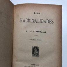 Libros antiguos: FRANCISCO PI Y MARGALL. LAS NACIONALIDADES. 1882. Lote 150205018