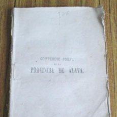 Libros antiguos: COMPRENDIÓ FORAL DE LA PROVINCIA DE ÁLAVA - POR RAMÓN ORTIZ DE ZÁRATE - MADRID 1870. Lote 151461666