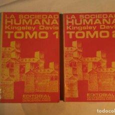 Libros antiguos: LA SOCIEDAD HUMANA, TOMOS I Y II. Lote 152211106