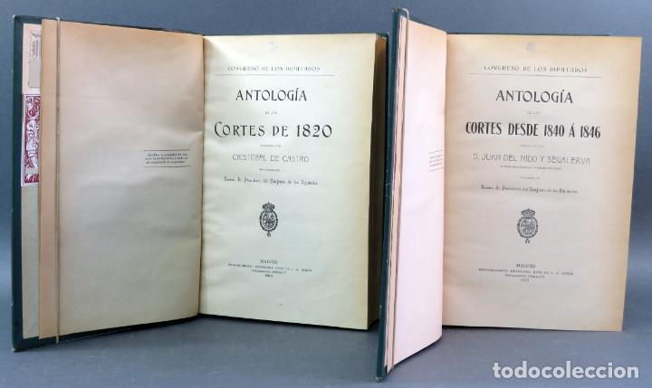 03b41a65737342 4 fotos ANTOLOGÍA CORTES 1820 1840 - 1846 CRISTÓBAL PÉREZ JUAN DEL NIDO EST  TIP HIJOS JA GARCÍA ...