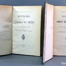 Libros antiguos: ANTOLOGÍA CORTES 1820 1840 - 1846 CRISTÓBAL PÉREZ JUAN DEL NIDO EST TIP HIJOS JA GARCÍA 1910 WEYLER. Lote 152789934