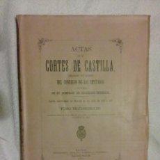 Libros antiguos: CORTES DE CASTILLA.. Lote 153415602