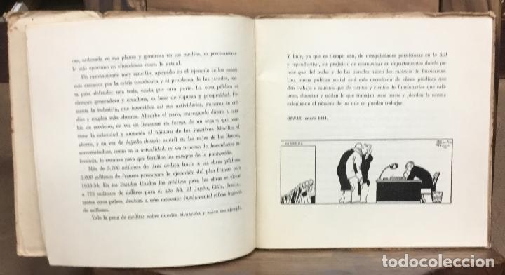 Libros antiguos: ARTÍCULOS DE UNA CAMPAÑA SOBRE LA CONSTRUCCIÓN Y SU INFLUENCIA EN EL PROBLEMA DEL PARO OBRERO. - Foto 3 - 123139527